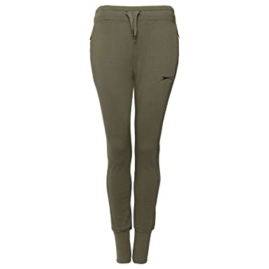 72c52f320bf Slazenger Ladies Women Jog Pants Sweatpants Gym Tracksuit Jogging Pants  Trousers with Long Cuffed Hem Side Zip Pocket  Amazon.co.uk  Clothing