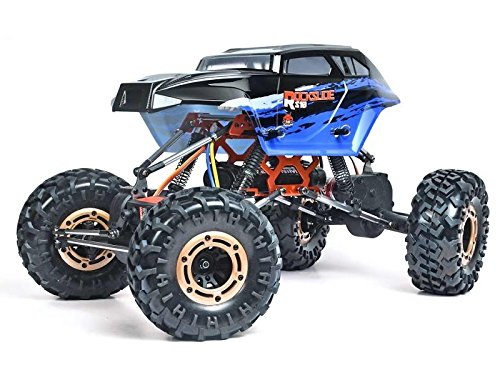 Rc Red Cat Racing Body (Redcat Racing Rockslide-RS10-XT-24 Crawler, Black/Blue)