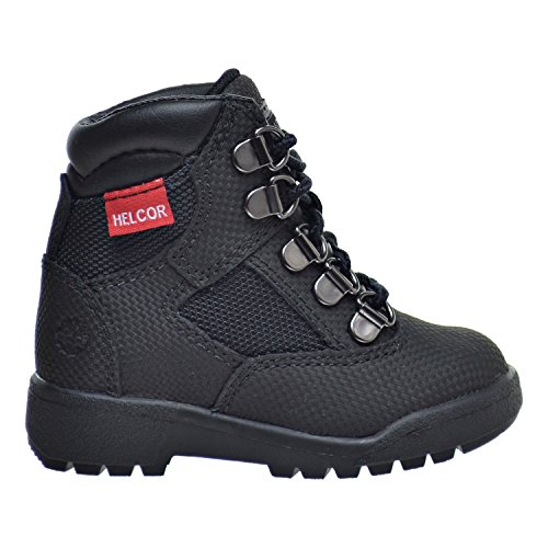 Timberland 6 Inch F/L Toddler Field Boots Black tb0a1aps (4 M US)