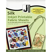 Jacquard Ink Jet Fabric 8.5'' x 11'' Silk Sheets (10 pack)