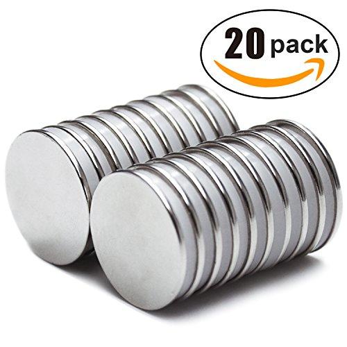 Powerful Disc Neodymium Magnets ( 20 Pack ) - 1.26