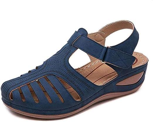 WODETIAN Ladies Sandals Wedge Summer