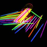 """300 Glow Sticks Bulk Party Supplies - Glow in The Dark Fun Party Pack with Super Bright 8"""" Glowsticks and Connectors for Bracelets and Necklaces (Multi Color)"""