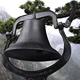 GHP 21''x14''x23.5'' Outdoor Church School Antique Vintage Style Large Cast Iron Dinner Farm Bell