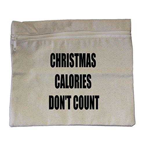 on'T Count Canvas Zippered Pouch Makeup Bag (Calorie Pouch)