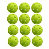 Crestgolf New Arrival Super-Soft Outdoor Pickleballs Practice Golf ball (6 Pack), Two Size for You to Choose