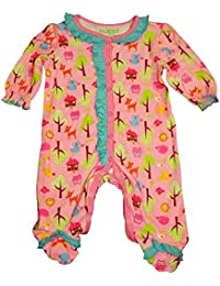 Baby Girls Long Sleeve Footed Velour Coverall