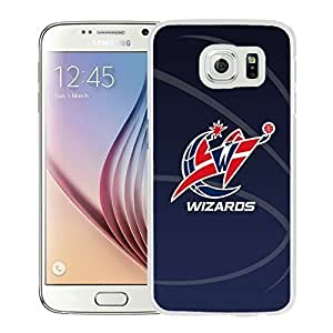 New Custom Design Cover Case For Samsung Galaxy S6 Washington Wizards 11 White Phone Case Kimberly Kurzendoerfer