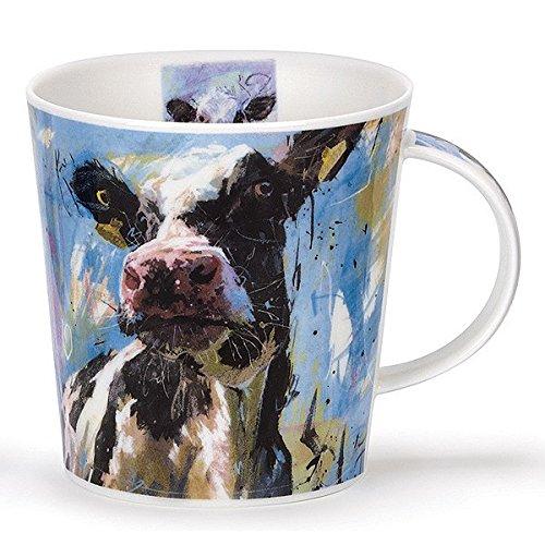(Stunning Black & White Cow On Canvas Dunoon Fine Bone China Mug Cairngorm Style)
