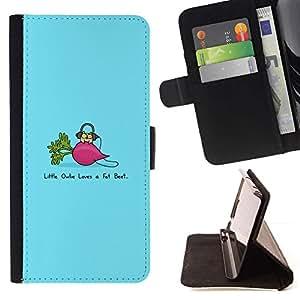 Momo Phone Case / Flip Funda de Cuero Case Cover - Divertido remolacha Grasa;;;;;;;; - HTC One Mini 2 M8 MINI