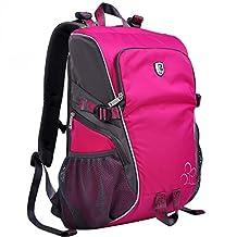 XSY Women Camera Backpack Photography Bag Case for DSLR SLR Canon Rebel Nikon Sony Pentax Color Plum
