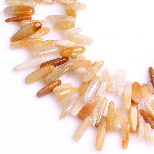 JOE FOREMAN 18mm-20mm Yellow Jade Semi Precious Gemstone Loose Beads for Jewelry Making DIY Handmade Craft Supplies 15