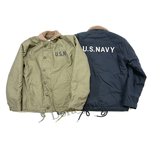 0b4cf94284 World2home 2018 Deck Jacket USN N-1 Mens Cotton Navy Fleece Coat Vintage  Slim Fit Winter N1 Parka Homme Clothes Deri Ceket in Stock: Amazon.in:  Clothing & ...
