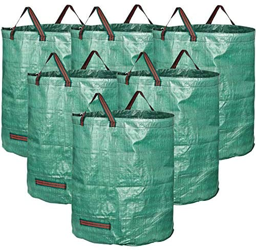 H33, D26 inches Yard Waste Bags with Double Bottom GardenMate 6-Pack 80 Gallons Professional Reusable Garden Waste Bags