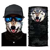 OWMEOT Stretchable Face Shield Mask Guards Balaclava Headwear for Camping,Running,Cycling, Biking, Motorcycling,Fishing,Hunting,Yard Working and Sun UV Protection (A)