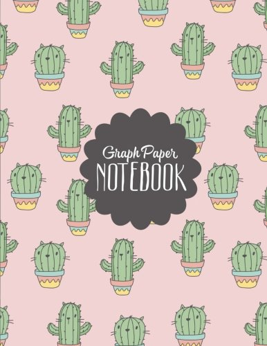 Catcus Graph Paper Notebook: Math Graph Paper Notebook for Kids, Girls, Teens, School, Teachers, Homeschool, Homework | Graph Grid Paper for Design, Games, and Writing | 150 Pages