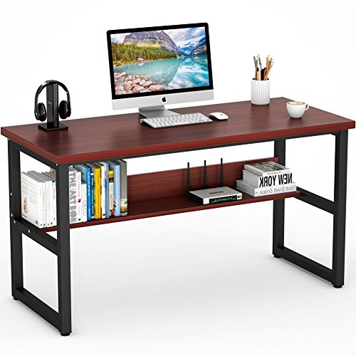 Tribesigns Computer Desk with Bookshelf, 55
