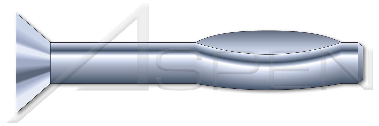 Split Drive Anchors 100 pcs High Alloy Steel Zinc Flat Countersunk Head 1//4 X 1-1//2