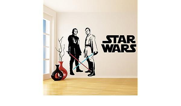 Amazon.com: (79 x 55) Star Wars Vinyl Wall Decal / Obi ...