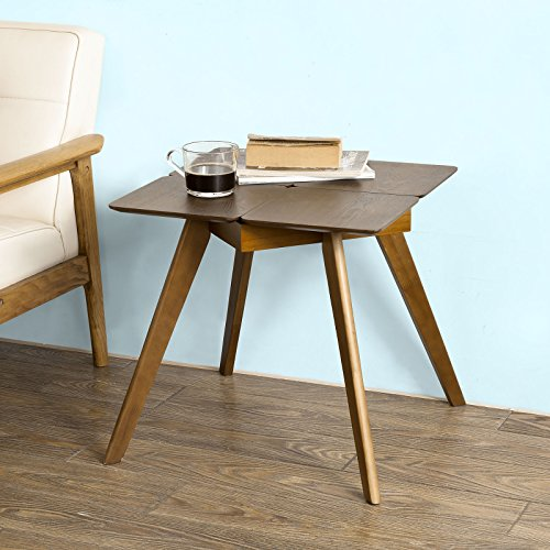 SoBuy Wooden Side Table, End Table, Tea Coffee Table, Lamp Table, console Table,, Telephone Table (FBT31-BR)