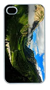 grove covers valley mountains forest scenery PC White Case for iphone 4/4S