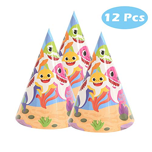 12 Pcs Baby Cute Shark Hat for Birthday