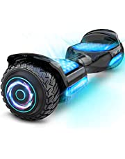 """Gyroor Hoverboard Off Road All Terrian 6.5"""" Two-Wheel G11 Flash LED Light Self Balancing Hoverboards with Bluetooth Music Speaker and UL 2272 Certified for Kids Adults Gift."""