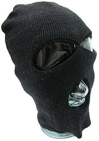 Máscara de 3 hoyos, lana Zorro Ninja, 1 tamaño Senior disfraz, pasamontañas mascarilla