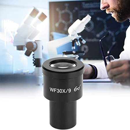 Rosvola GWF001 wf30X//9 Microscope Wide-Angle Eyepiece 23.2mm Capture and Record The Beauty in The Micro World Focals Length Microscope Ocular Lens 9mm