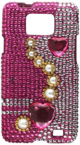 Aimo Wireless SAMI9100PCDI036 Bling Brilliance Premium Grade Diamond Case for AT&T Samsung Galaxy S2 i777 - Retail Packaging - Plaid Pink