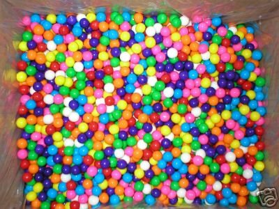 810 Mini Gumballs Miniature Assorted Dubble Bubble Gum Balls Concord Confections