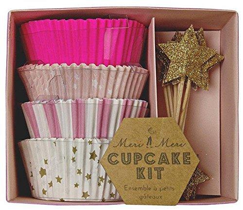 Meri Meri Pink Cupcake Kit - Pink Decorating Kit