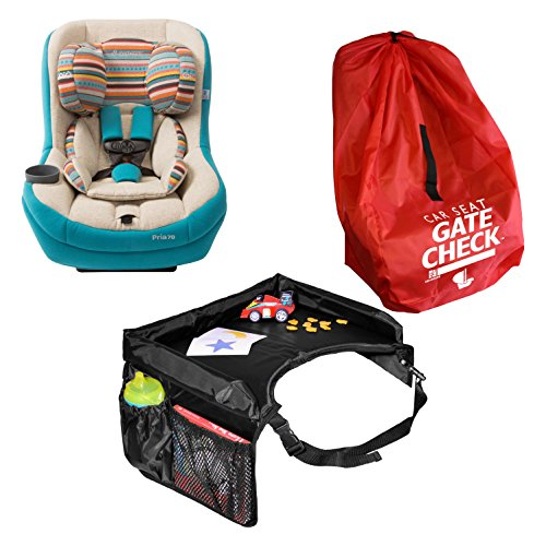 Maxi Cosi Pria 70 Convertible Car Seat in Bohemian Blue with Star Kids Snack & Play Travel Tray and Gate Check Bag