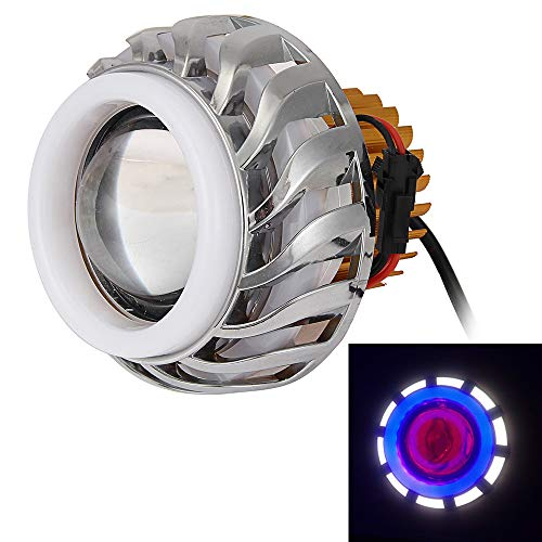 Motorcycle Accessories 10W LED Lens Double Light Angel Eye Motorcycle ()