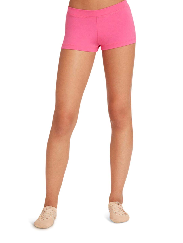 Capezio Women's Low Rise Boy Cut Short, Hot Pink, Medium