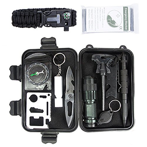 Whistle Pen (Survival Kit: 12 in 1 Multi Emergency Professional Survival Kit for Traveling, Hiking, Biking, including Flashlight, Compass with Ruler , Knife, Whistle ,Tactical Pen, Multi Function Pocket Card)