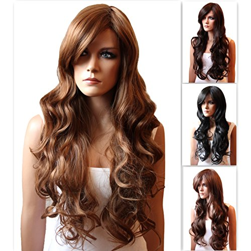 PRETTYSHOP Unisex Wig Long Hair Wavy Heat-Resistant 51dshc3Ml4L