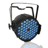 DJ Par Light with 54X3W RGB Wash Light, Sound DMX512 Controlled LED Stage Light for Wedding Birthday Christmas Party Show