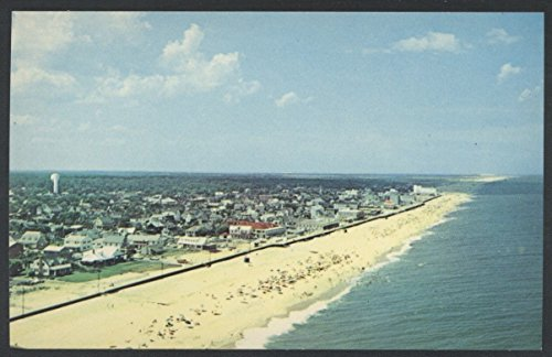 Rehoboth Beach Delaware AERIAL VIEW Vintage - Stores Rehoboth Beach