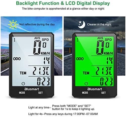 Blusmart Compteur de v/élo sans fil /étanche IP67 avec /écran LCD 21 fonctions