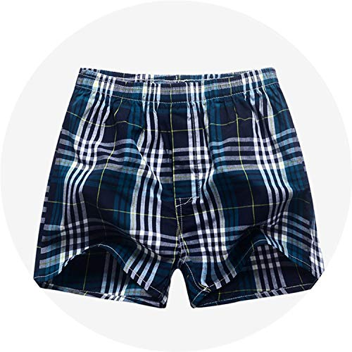 Kmart Joe Boxer - Underwear Men Boxer Brief Plaid Underpants Cotton Shorts Striped Panties Oversize Breathable,No8 Blue Ash,XL