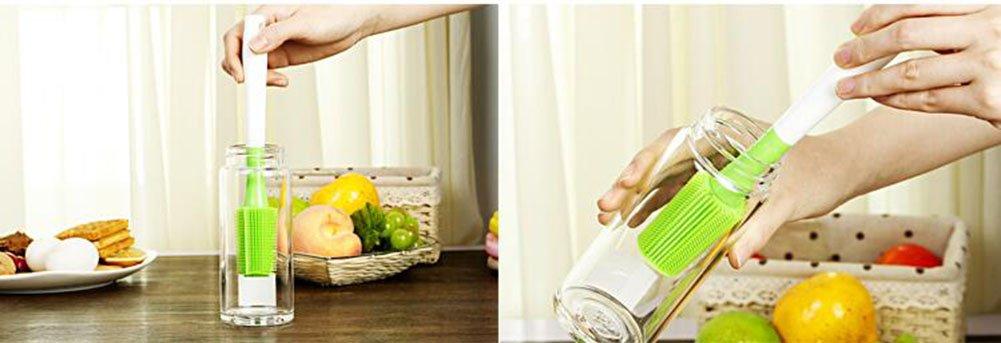 Silikon-Reinigungsbürste Zweiteiler Kitchen Wash Topfbürste Langen Griff Wash Cup Cup Cup Pinsel B07F6XFWJ6 Bürsten 4c7737