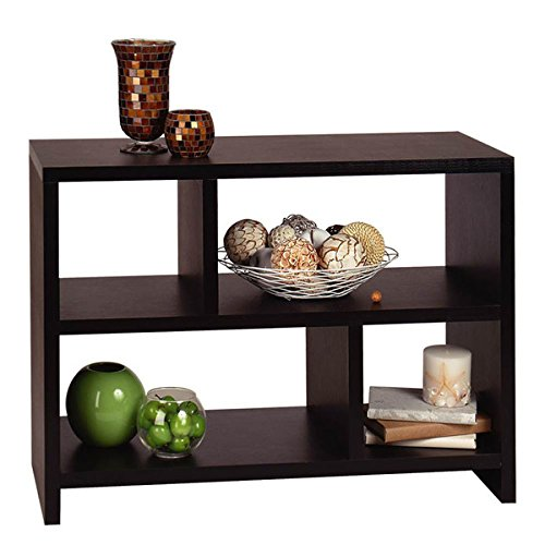 Bookcase Table Decor Furniture and Office Bookshelves for Entry Hall Sofa (Espresso)