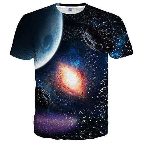 Yasswete Unisex Top Tees 3D Printed Short Sleeve Shirts Size - T-shirt Glow Short Sleeve