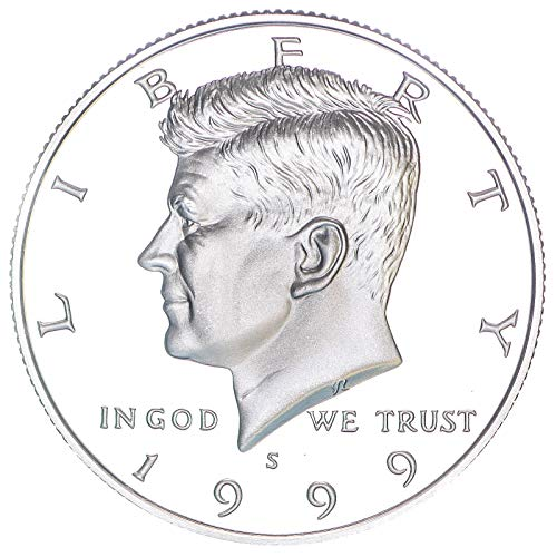 1999 S Kennedy Half Dollar 90% Silver Gem Deep Cameo Proof