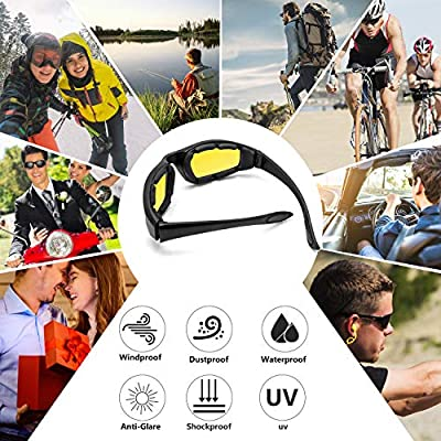 3 Pair Motorcycle Riding Glasses Padding Goggles UV Protection Dustproof WindproofMotorcycle Sunglasses with Clear Lens for Outdoor sports Actives: Automotive
