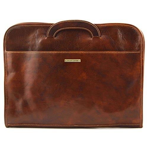 Tuscany Leather Sorrento - Portafolio en piel Marrón oscuro Portadocumentos en piel Miel