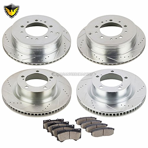 Duralo Front Rear Brake Pads And Rotors Kit For Toyota Tundra Sequoia Land Cruiser 200 5-Lug - Duralo 153-1173 New