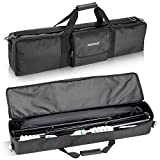 Neewer 30x7x3.7/76x17x9.5CM Photo Video Studio Kit Large Carrying Zipper Bag for Light Stand, Umbrella, Monolight, LED Light, Flash, Speedlite and Other Accessories (Black)