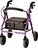 NOVA 20' Zoom Rollator Walker, Purple